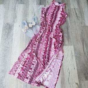 Long pink summer dress. New. Size large